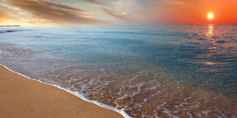 Tramonto sul mare Salento Comune di Salve