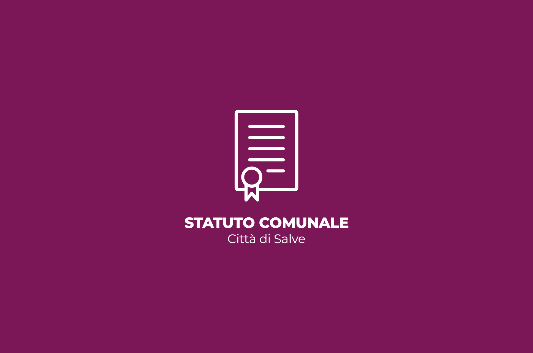Statuto Comunale Comune di Salve