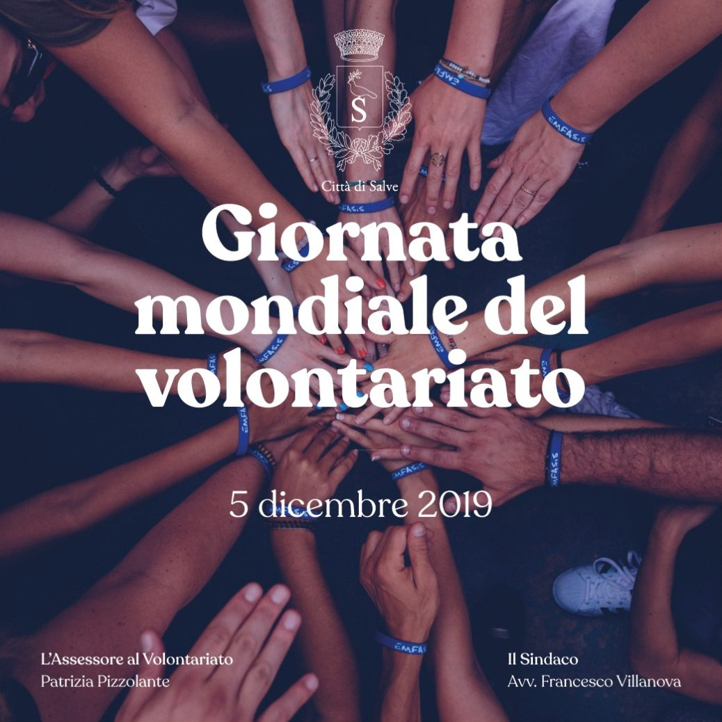 Giornata mondiale del volontariato Comune di Salve