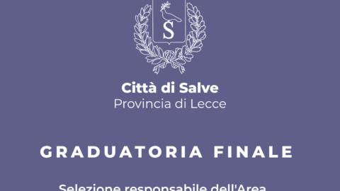 Graduatoria finale selezione responsabile Area economico-finanziaria della Città di Salve