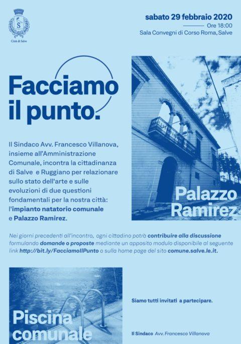 Piscina comunale e Palazzo Ramirez: facciamo il punto.