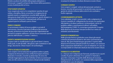 """Decreto """"IO RESTO A CASA"""" Nuove misure per il contrasto del Covid-19 (Dpcm 9 marzo 2020)"""