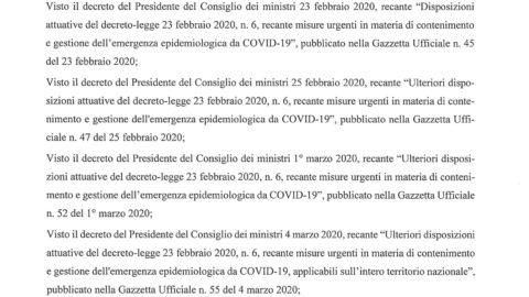 DPCM 22/03/2020 – nuovi obblighi di sospensione alle attività produttive