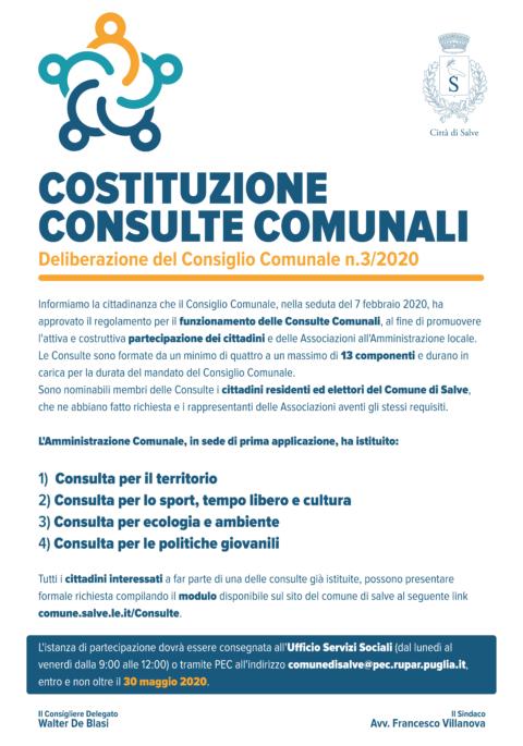 COSTITUZIONE CONSULTE COMUNALI