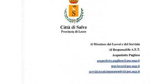 SOLLECITO RISOLUZIONE PROBLEMA TRONCO FOGNARIO Via M. di Belfiore – Via Marconi – Via Roma.