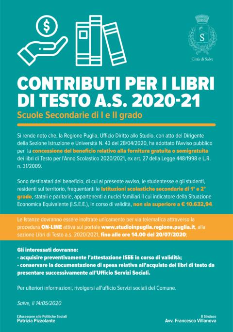 CONTRIBUTI LIBRI DI TESTO A.S. 2020/21