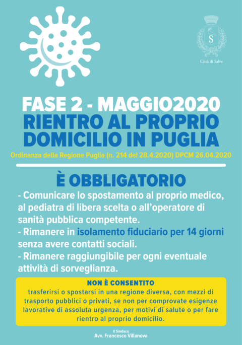 NUOVO MODULO SPOSTAMENTI – FASE2 MAGGIO 2020