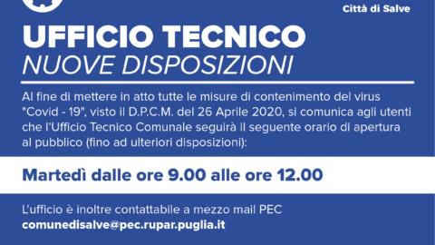 UFFICIO TECNICO – Nuove Disposizioni