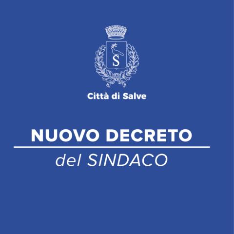 DECRETO DEL SINDACO N.18 DEL 30.06.20