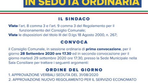 CONSIGLIO COMUNALE SETTEMBRE 2020