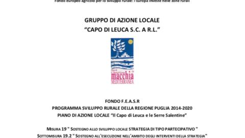 """PIANO DI AZIONE LOCALE """"Il Capo di Leuca e le Serre Salentine"""""""