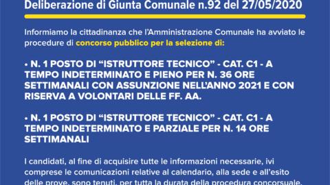 N.2 BANDI DI CONCORSO PUBBLICO