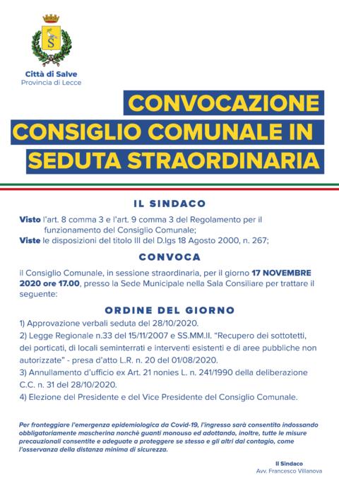 CONSIGLIO COMUNALE NOVEMBRE 2020