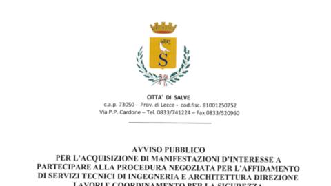 AVVISO PUBBLICO – SERVIZI TECNICI DI INGEGNERIA E ARCHITETTURA