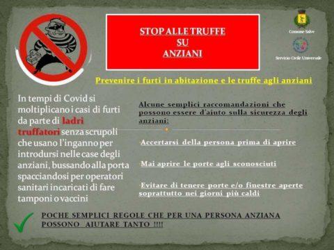 STOP ALLE TRUFFE SU ANZIANI